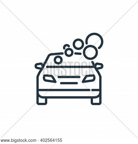 car wash icon isolated on white background. car wash icon thin line outline linear car wash symbol f