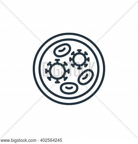 petri dish icon isolated on white background. petri dish icon thin line outline linear petri dish sy