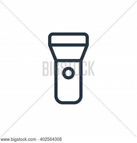 torch icon isolated on white background. torch icon thin line outline linear torch symbol for logo,