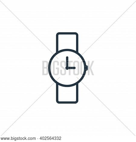 watch icon isolated on white background. watch icon thin line outline linear watch symbol for logo,