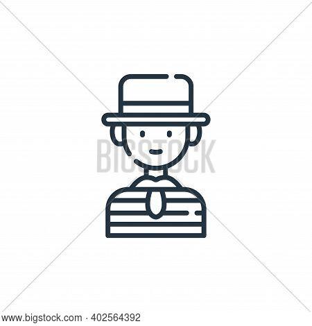 gondolier icon isolated on white background. gondolier icon thin line outline linear gondolier symbo