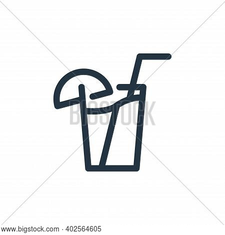 juice icon isolated on white background. juice icon thin line outline linear juice symbol for logo,