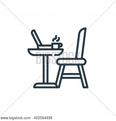 table icon isolated on white background. table icon thin line outline linear table symbol for logo,