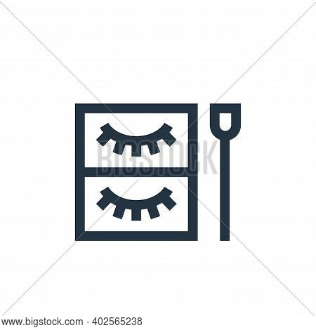 eyelashes icon isolated on white background. eyelashes icon thin line outline linear eyelashes symbo