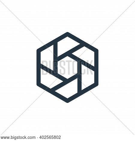 hexagon icon isolated on white background. hexagon icon thin line outline linear hexagon symbol for