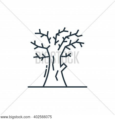 dead tree icon isolated on white background. dead tree icon thin line outline linear dead tree symbo