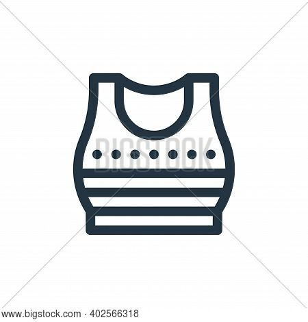 crop top icon isolated on white background. crop top icon thin line outline linear crop top symbol f