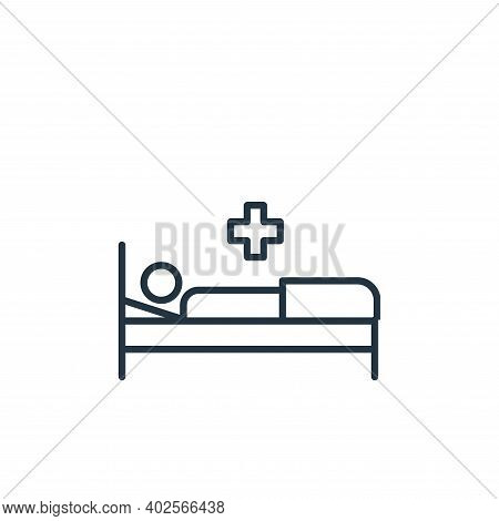 illness icon isolated on white background. illness icon thin line outline linear illness symbol for