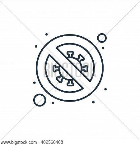 no virus icon isolated on white background. no virus icon thin line outline linear no virus symbol f