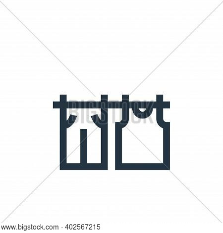 drying icon isolated on white background. drying icon thin line outline linear drying symbol for log