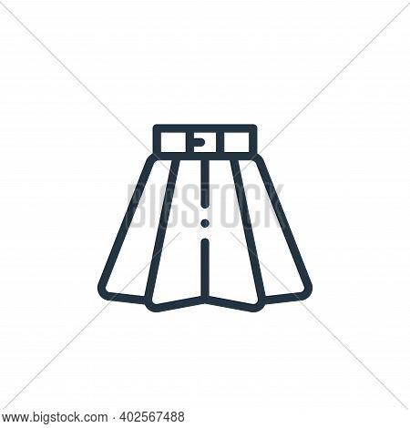 skirt icon isolated on white background. skirt icon thin line outline linear skirt symbol for logo,
