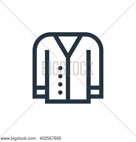 cardigan icon isolated on white background. cardigan icon thin line outline linear cardigan symbol f