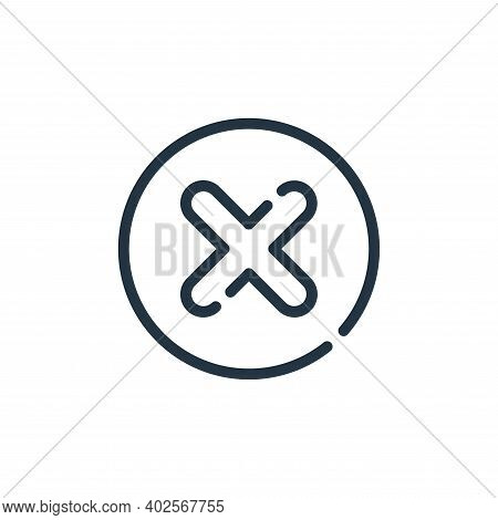cross icon isolated on white background. cross icon thin line outline linear cross symbol for logo,