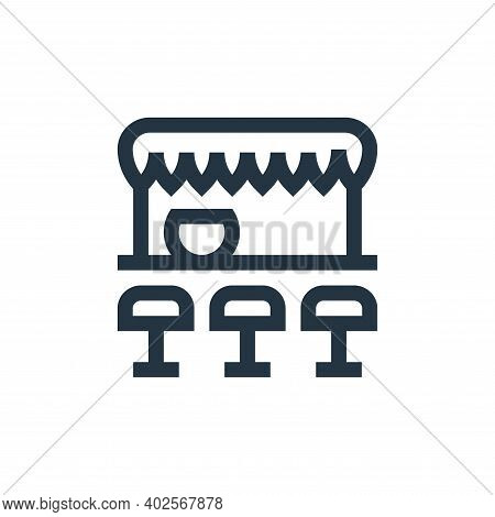 pub icon isolated on white background. pub icon thin line outline linear pub symbol for logo, web, a