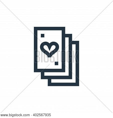 playing cards icon isolated on white background. playing cards icon thin line outline linear playing