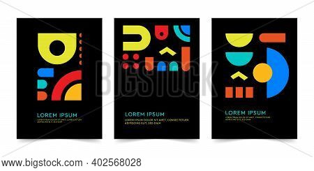 Poster Template, Company Identity Brochure Template Collection. Business Presentation Vector A4. Cor