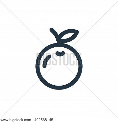 orange icon isolated on white background. orange icon thin line outline linear orange symbol for log