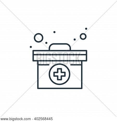 medical box icon isolated on white background. medical box icon thin line outline linear medical box