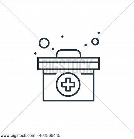 medical box icon isolated on white background. medical box icon thin line outline linear medical box