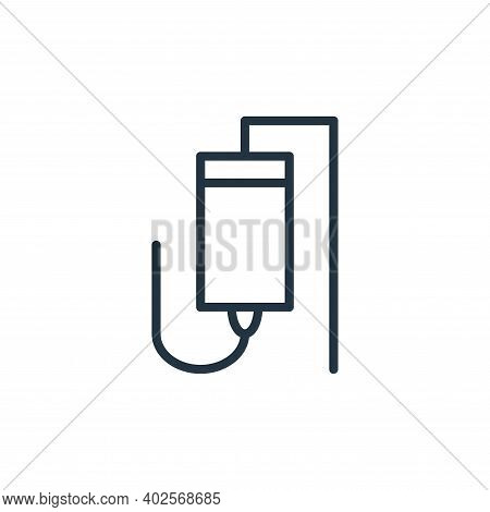 infusion icon isolated on white background. infusion icon thin line outline linear infusion symbol f