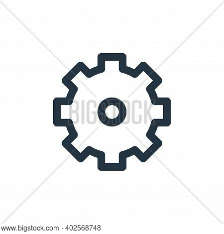 gear icon isolated on white background. gear icon thin line outline linear gear symbol for logo, web
