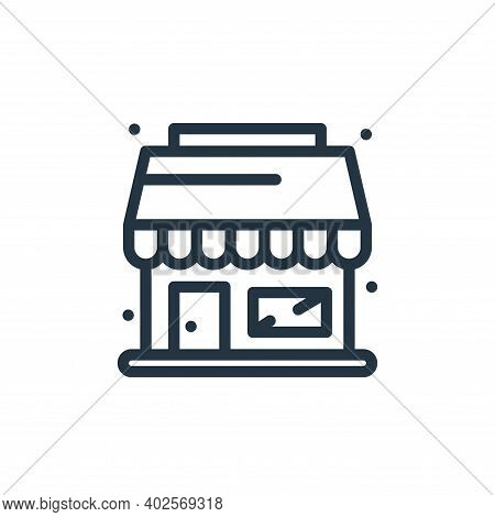 shopping store icon isolated on white background. shopping store icon thin line outline linear shopp