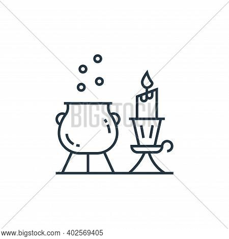 cauldron icon isolated on white background. cauldron icon thin line outline linear cauldron symbol f