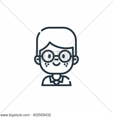 nerd icon isolated on white background. nerd icon thin line outline linear nerd symbol for logo, web