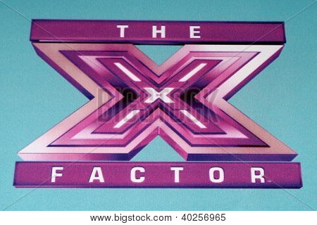 LOS ANGELES - DEC 17:  X Factor Symbol at the 'X Factor' Season Finale Press Conference at CBS Television City on December 17, 2012 in Los Angeles, CA