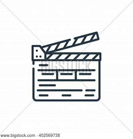 clapperboard icon isolated on white background. clapperboard icon thin line outline linear clapperbo