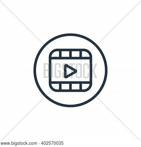 video icon isolated on white background. video icon thin line outline linear video symbol for logo,
