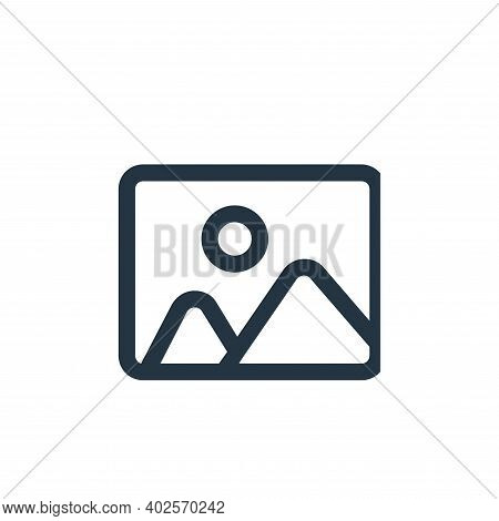 photo icon isolated on white background. photo icon thin line outline linear photo symbol for logo,