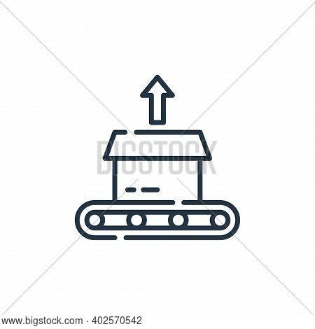 Unboxing icon isolated on white background. Unboxing icon thin line outline linear Unboxing symbol f