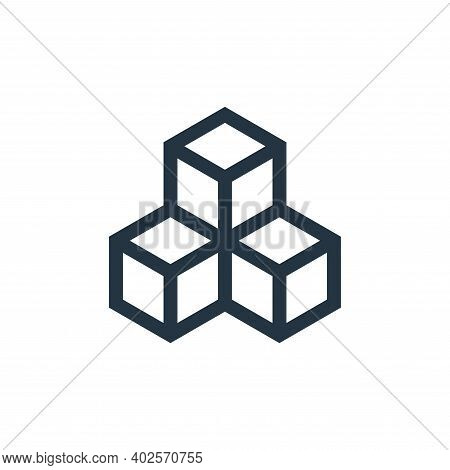 blockchain icon isolated on white background. blockchain icon thin line outline linear blockchain sy