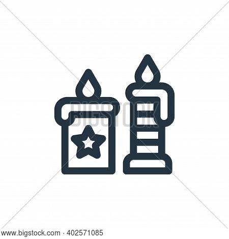 candles icon isolated on white background. candles icon thin line outline linear candles symbol for
