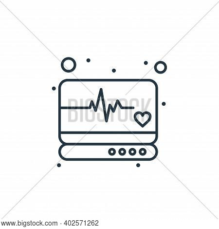 heart rate monitor icon isolated on white background. heart rate monitor icon thin line outline line