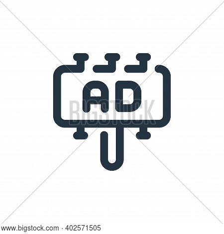 billboard icon isolated on white background. billboard icon thin line outline linear billboard symbo