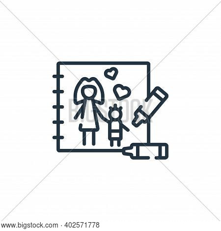 drawing icon isolated on white background. drawing icon thin line outline linear drawing symbol for