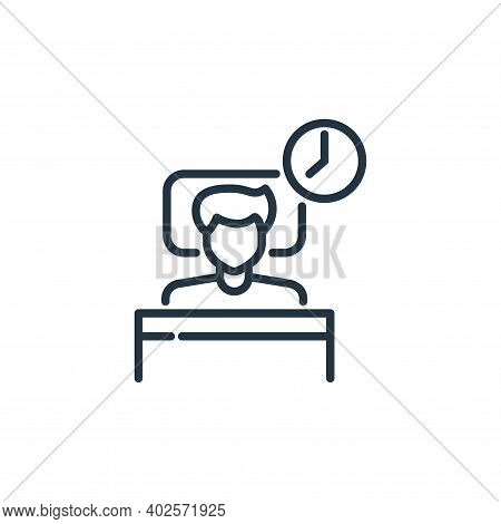 human sleeping icon isolated on white background. human sleeping icon thin line outline linear human