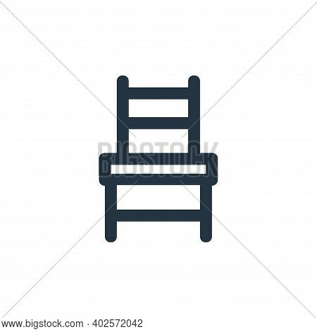 chair icon isolated on white background. chair icon thin line outline linear chair symbol for logo,
