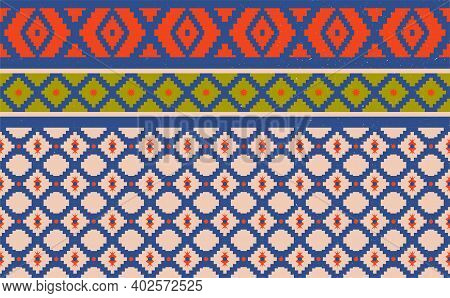 Abstract Geometric Native Pattern Seamless Vector.repeating Geometric Background.modern Design Trend