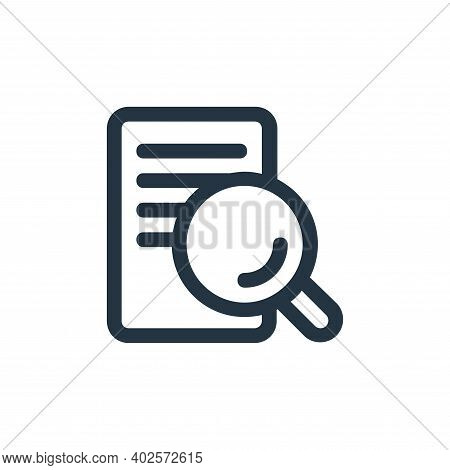 search file icon isolated on white background. search file icon thin line outline linear search file