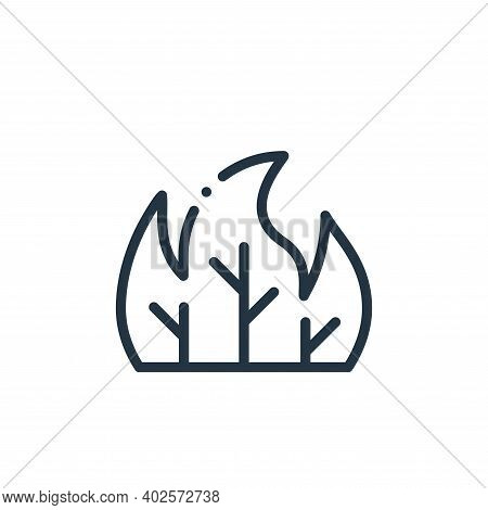 forest fire icon isolated on white background. forest fire icon thin line outline linear forest fire