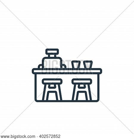 bar counter icon isolated on white background. bar counter icon thin line outline linear bar counter