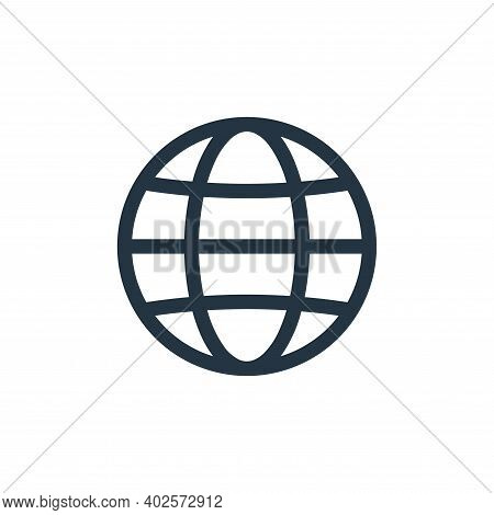 internet icon isolated on white background. internet icon thin line outline linear internet symbol f