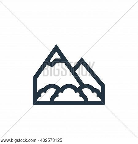 mountains icon isolated on white background. mountains icon thin line outline linear mountains symbo