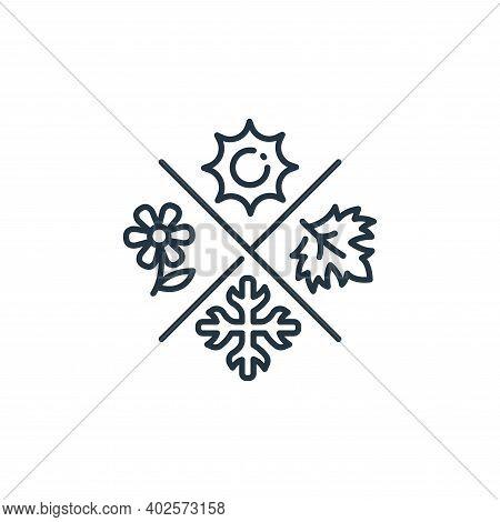 season icon isolated on white background. season icon thin line outline linear season symbol for log