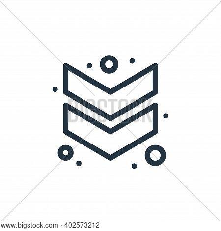 down chevron icon isolated on white background. down chevron icon thin line outline linear down chev