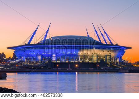 Saint Petersburg, Russia - May 29, 2018: Modern Stadium