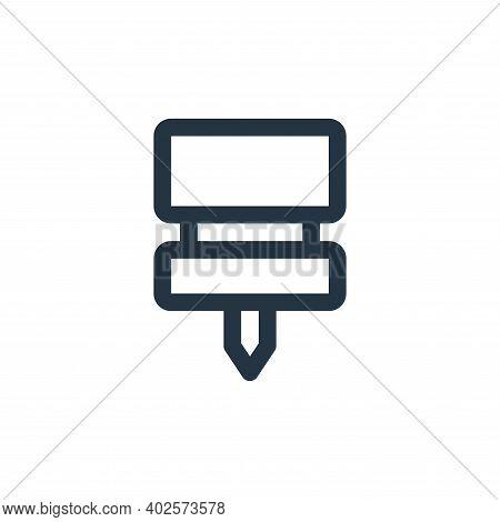 push pin icon isolated on white background. push pin icon thin line outline linear push pin symbol f